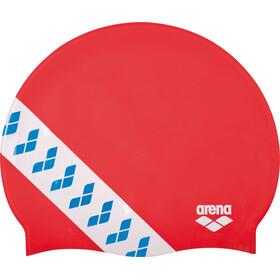arena Team Stripe Bathing Cap red